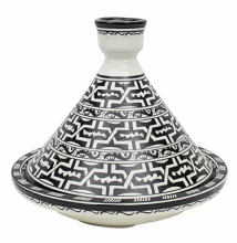 Moroccan Serving Presentation Tagine Dish in Ceramic Hand Painted 32 x 27 cm - 12.5 x 10.5'' (TGB)
